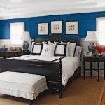 Blue Room White Trim Black Bed Pinpoint