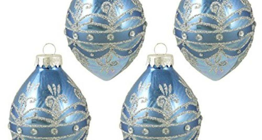 Blue Silver Christmas Ornaments