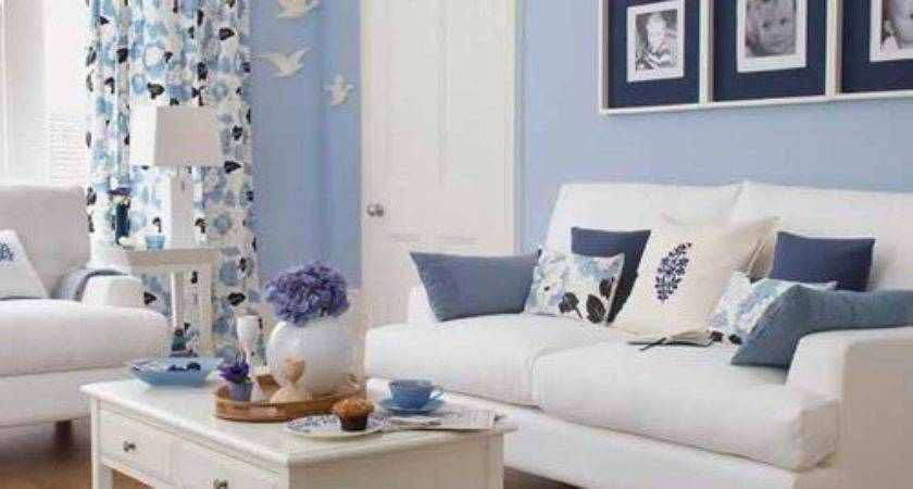 Blue White Liven Living Spaces