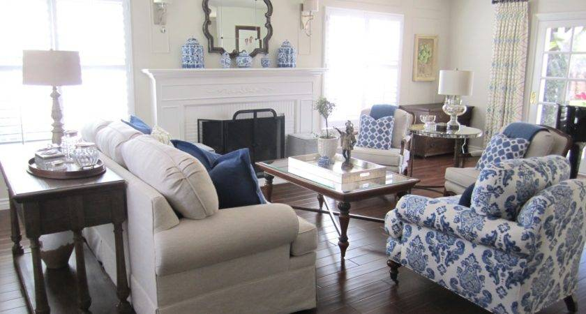 Blue White Silver Timeless Design Classic Casual Home