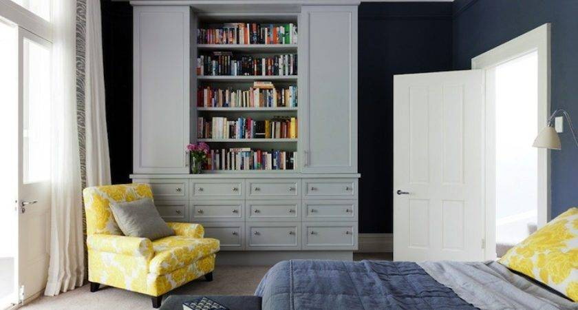 Blue Yellow Gray Bedroom Contemporary Arent