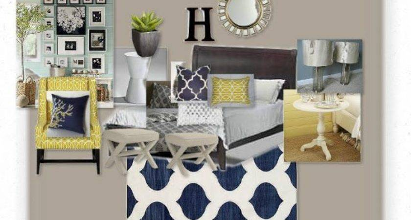 Blue Yellow Gray Bedroom Photos Video