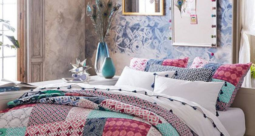 Boho Bed Sheets Bohemian Style Butterfly Bedding