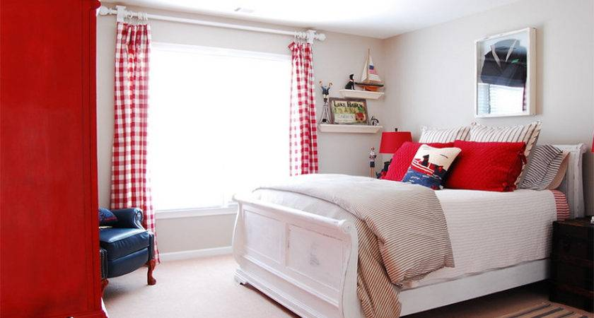 Bold Bedrooms Blue Red White Colors Home