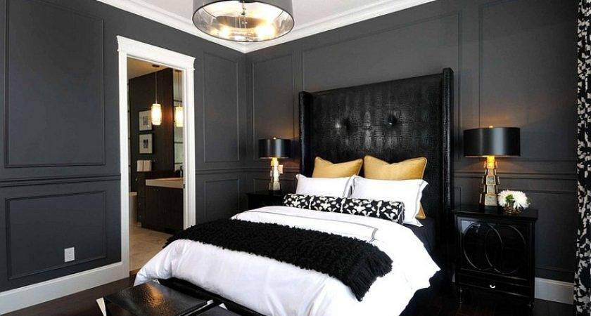 Bold Black White Bedrooms Bright Pops Color