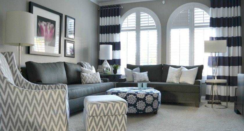Bold Bright Living Room Makeover Before After