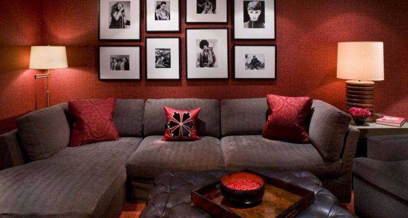 Bold Idea Red Black Brown Living Room Ideas Home