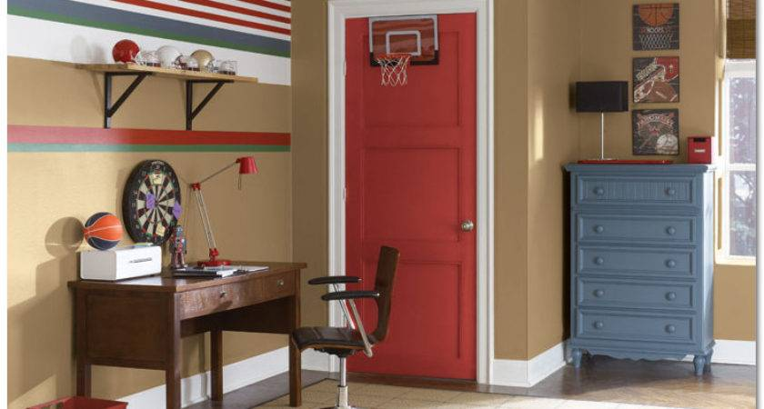 Boys Room Paint Ideas Sportskids Decor Fun Decoration