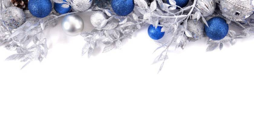 Branches Decoration Silver Blue Christmas Balls