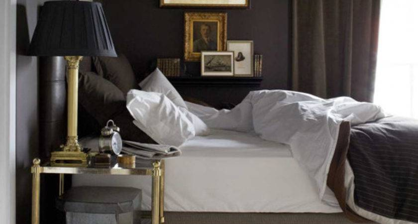 Brass Etagere Transitional Bedroom House Beautiful