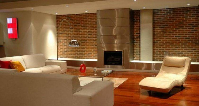 Brick Wall Inside House Fireplace Design Ideas
