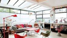 Bright French Loft Retro Interior Cor