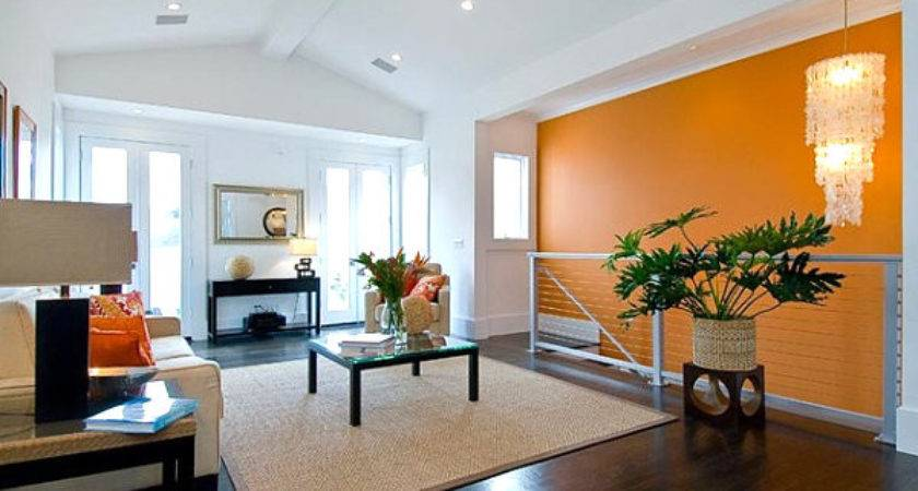 Bright Orange Accent Wall Decoist