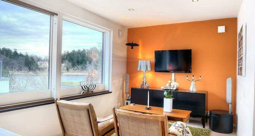 Bright Small Orange Living Room Ideas Wicker Chairs