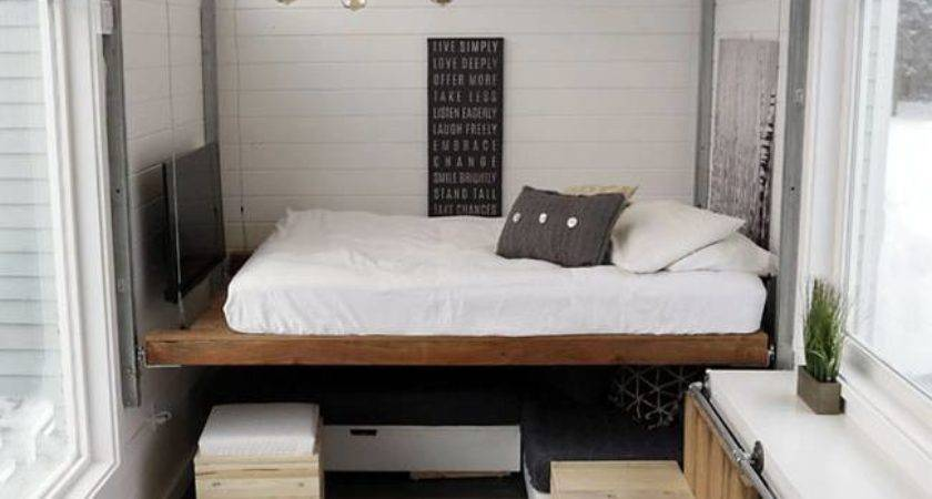 Brilliant Tiny House Features Diy Elevator Bed Built