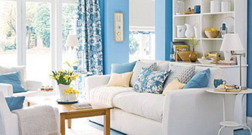 Bringing Blue Living Room Interior Design Ideas