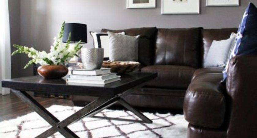 Brown Couch Gray Walls Ideas Remodel Decor