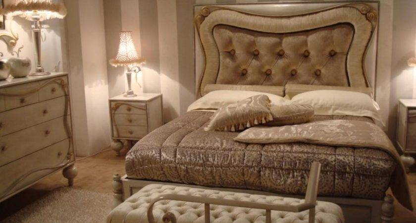 Brown Cream Shabby Chic Bedroom Antique Furniture