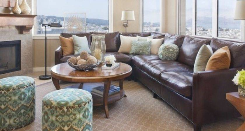 Brown Leather Couch Living Room Ideas Home Design