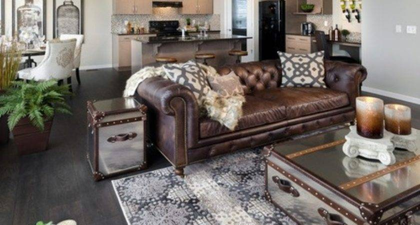 Brown Leather Sofa Home Design Ideas Remodel