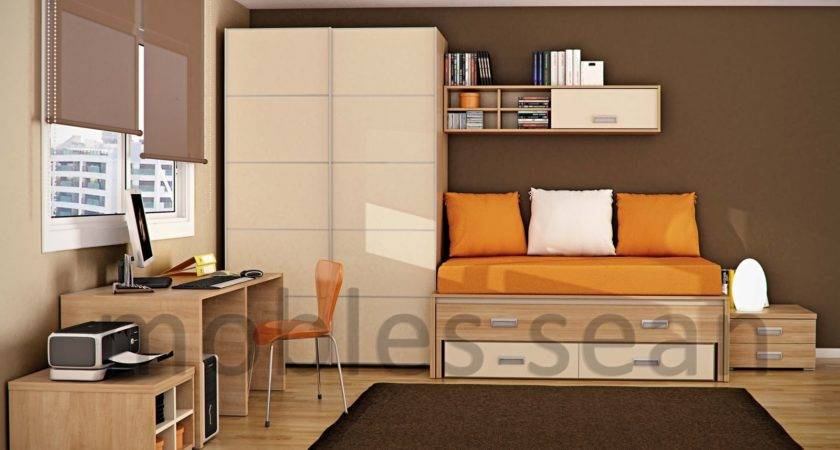 Brown Orange Kids Room Interior Design Ideas