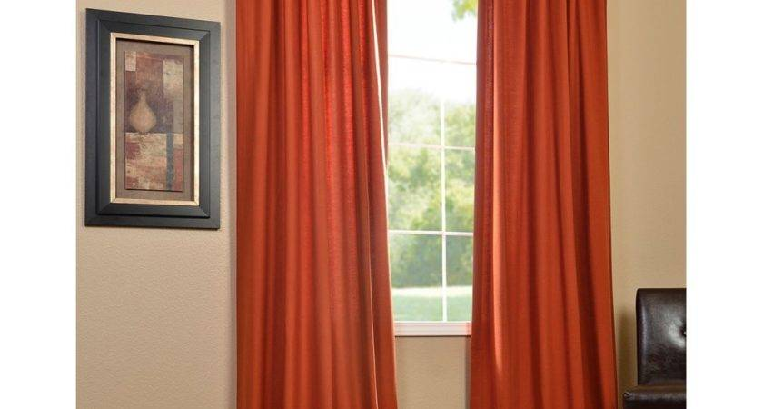 Brown Rust Colored Curtains Bedroom