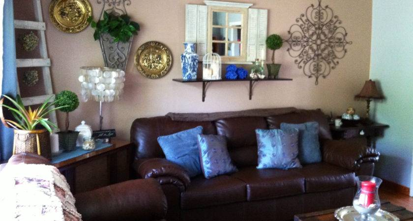 Brown Turquoise Decor Sofa Decorating Ideas Living