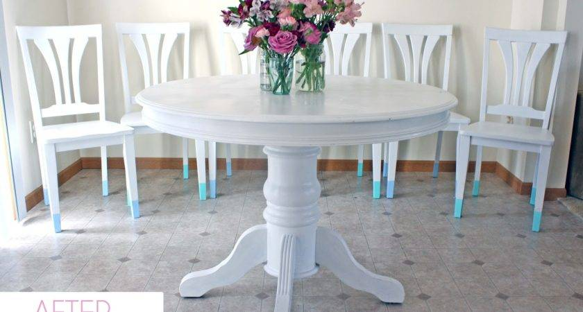Bubbly Life Paint Dining Room Table Chairs