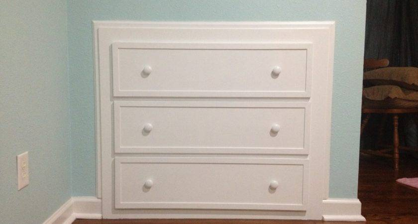 Build Dresser Into Wall Plans Diy