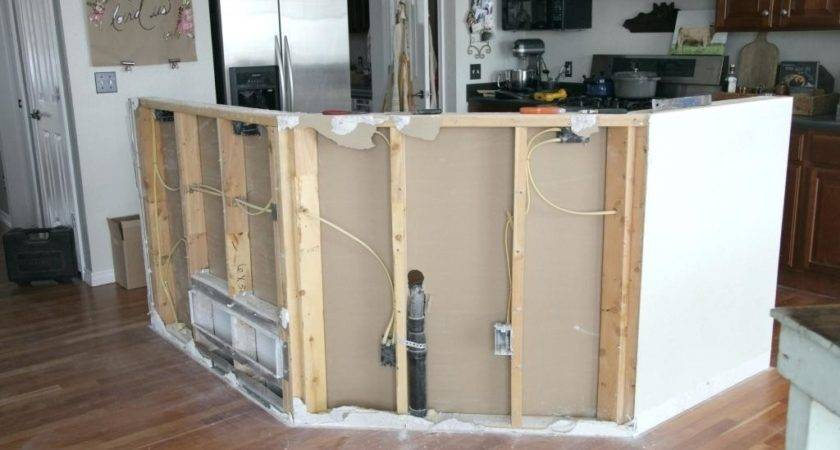 Building Kitchen Island Breakfast Bar Diy Base Cabinets
