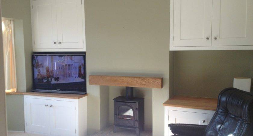 Built Alcove Units Fireplace Beam Carpentry