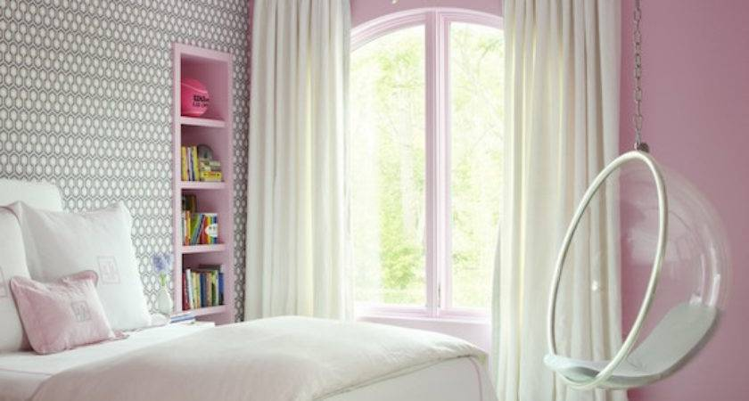 Built Bed Contemporary Girl Room Artistic
