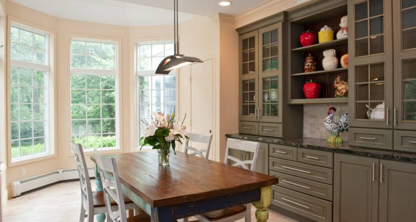 Built China Cabinet Dining Room Traditional