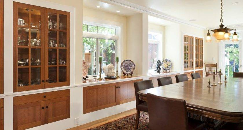 Built Dining Room Buffet Ideas Craftsman