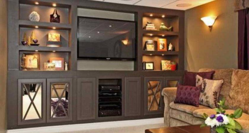 Built Wall Units Living Rooms Contemporary