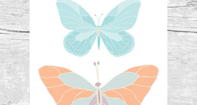Butterflies Art Summertime Feminine Wall Decor