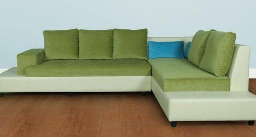 Buy Coral Sectional Sofa Beige Lime Green Colour