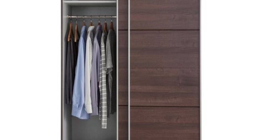 Buy Hygena Bergen Door Small Sliding Wardrobe Walnut