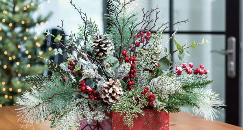 Buy Winterberry Frost Artificial Holiday Centerpiece