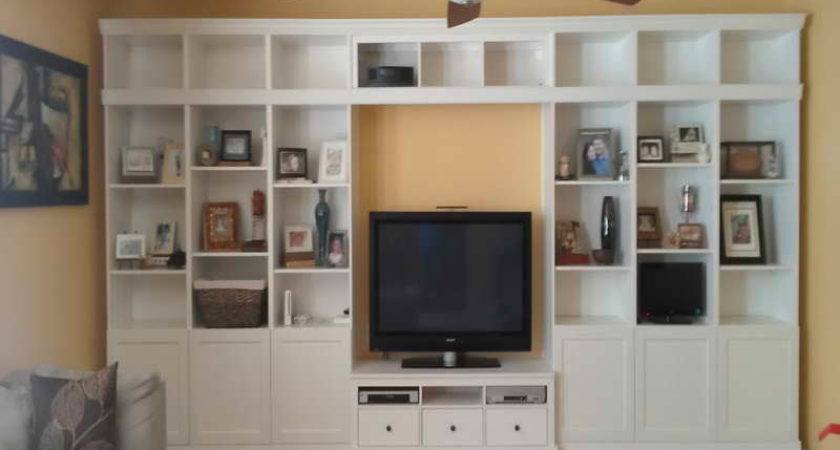 Cabinet Shelving Built Wall Design