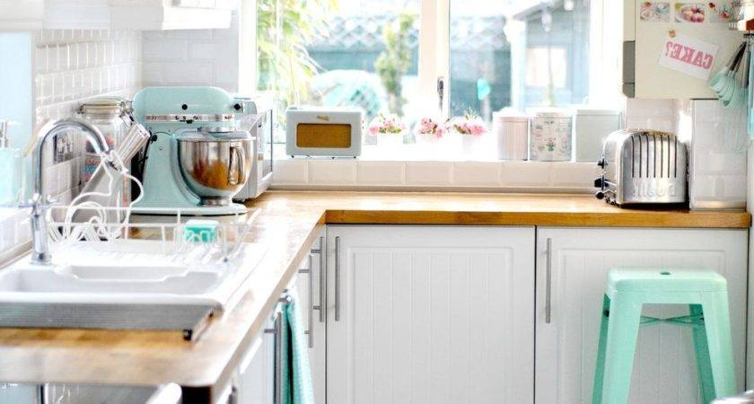 Cake Stand Decorating Kitchen Eclectic Pastel