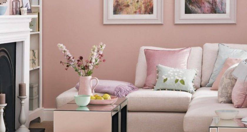 Candy Floss Pink Living Room Decorating
