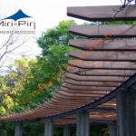 Cantilever Metal Pergola Commercial Customized