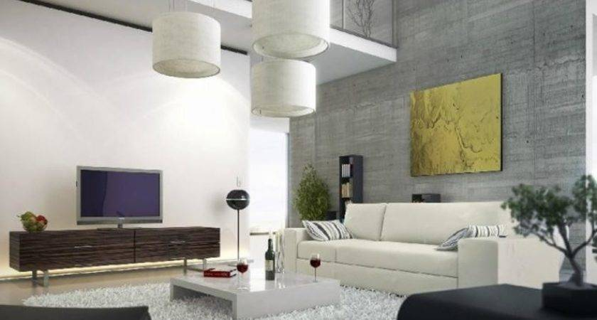 Captivating Living Room Designs Concrete Wall Rilane