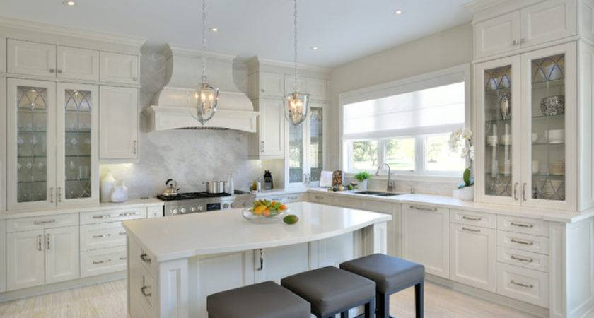 Captivating Transitional White Kitchen
