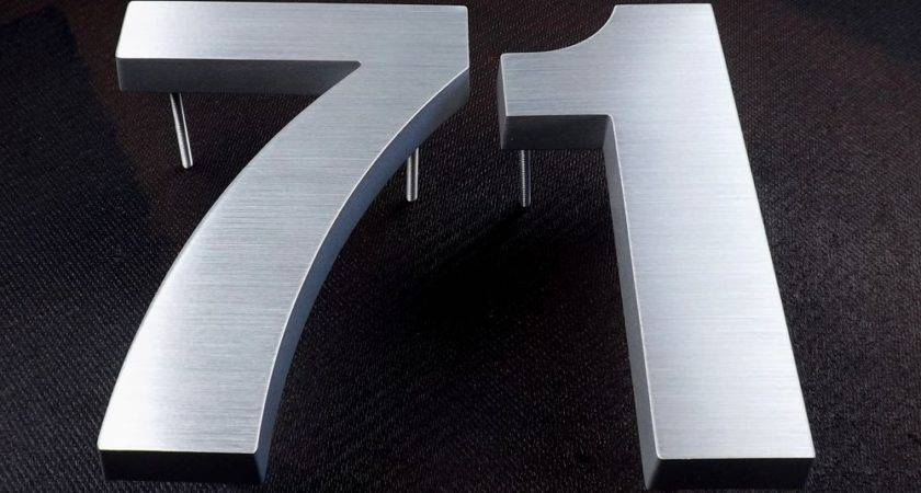Cast Metal House Numbers Helvetica Font Letters