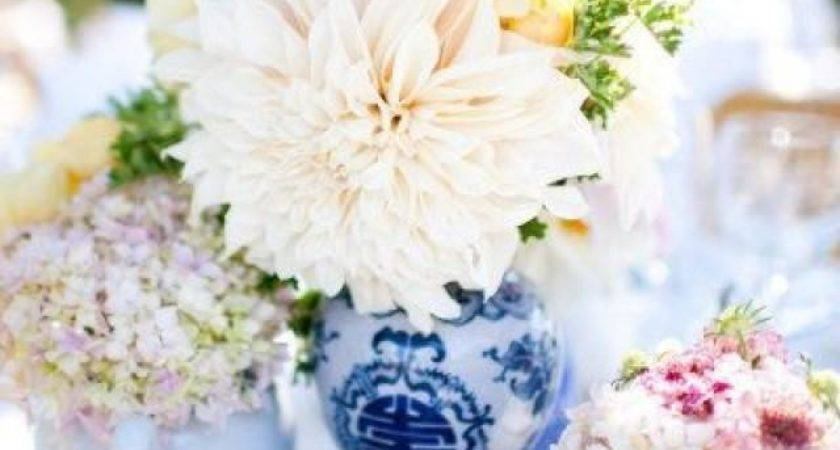 Centerpieces Blue White Chinese Vases Teapots