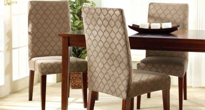 Charming Dining Room Chair Slipcovers Table Armchairs