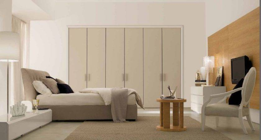 Charming White Bedroom Design Wooden Wall Unit