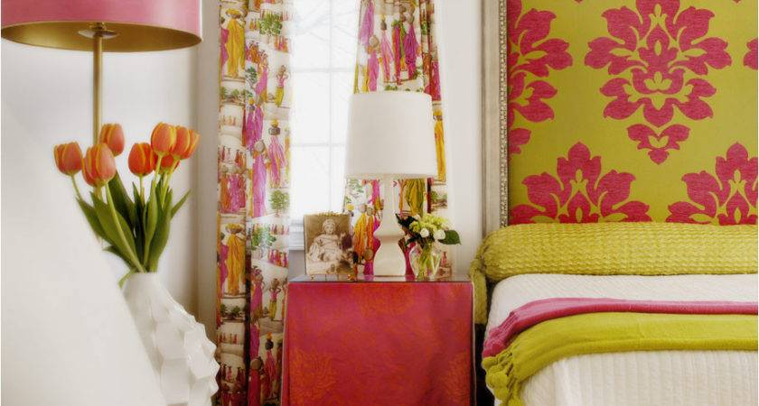 Chartreuse Gray Walls Lime Green Fuchsia Color